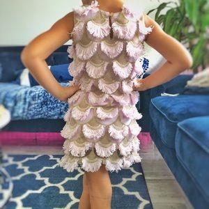 Ruffle Gold & Pink Beautiful Dress